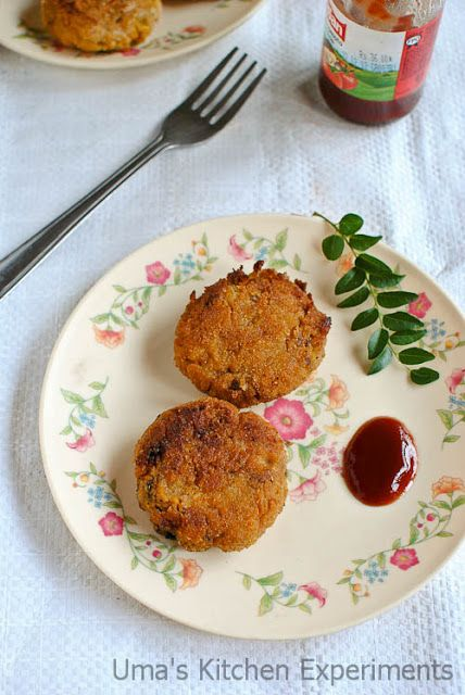 Soya Chunks Cutlets / Meal Maker Cutlets ~ My Kitchen Experiments