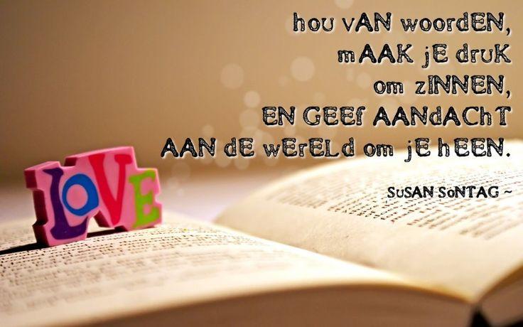 Quote van de week: hou van woorden -- Tekstbureau Van Ginneken