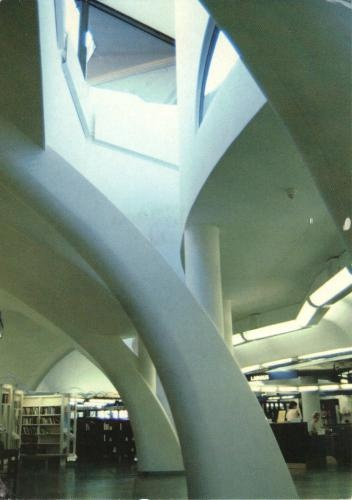 Tampere Main Library in Finland.  Known for it's architecture.