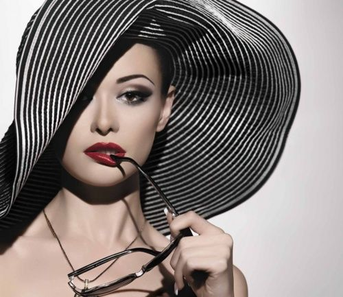 .: Mad Hatters, Makeup, Red Lips, Mike, Big Hats, Hats Hats, Floppy Hats, Beautiful Hats, Stripes Hats