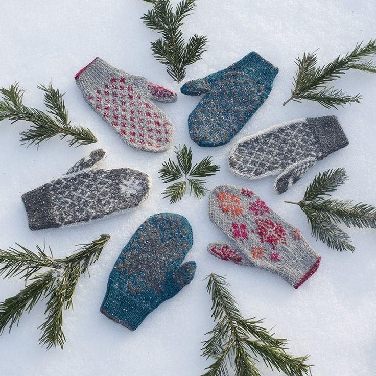 des moufles en tricot islandais