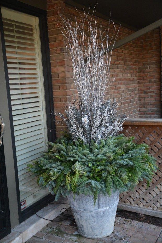 Best 25+ Christmas planters ideas on Pinterest | Outdoor ...
