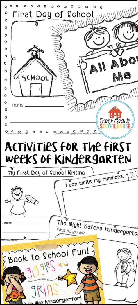 004 Back to School Writing Activities for Kindergarten. Packet