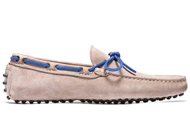 Dove Grey Driving Moccasins in Suede Leather - El Lumagott - Velasca - Men's Fashion