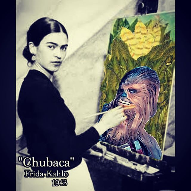 FAVORITE WORK OF FRIDA KAHLO.   #chubaca#chubaka#chewbacca#starwars#theforceawakens#estarguars#coyoacan#mexico#rivera#kahlo#siqueiros#orozco#lafrida#fridakahlo#artedemexico