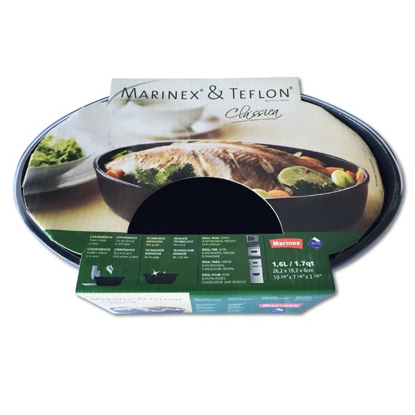 Marinex Teflon Oval Roasting Dish 1.6L (262x182x60mm)