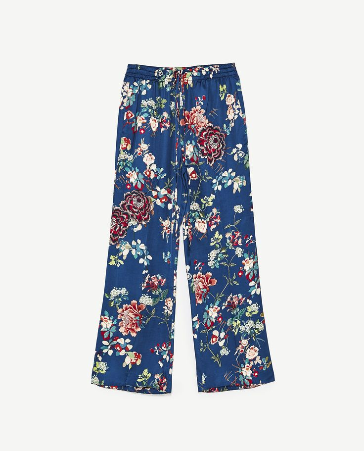 BELL BOTTOM PYJAMA STYLE TROUSERS