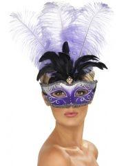 Maska wenecka z piórami