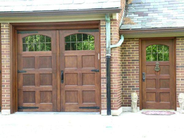 13 best images about garage doors on pinterest for Wood front doors and garage doors