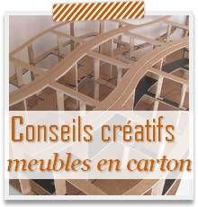 Conseils créatifs pour faire vos meubles en carton - Créer ses meubles en carton