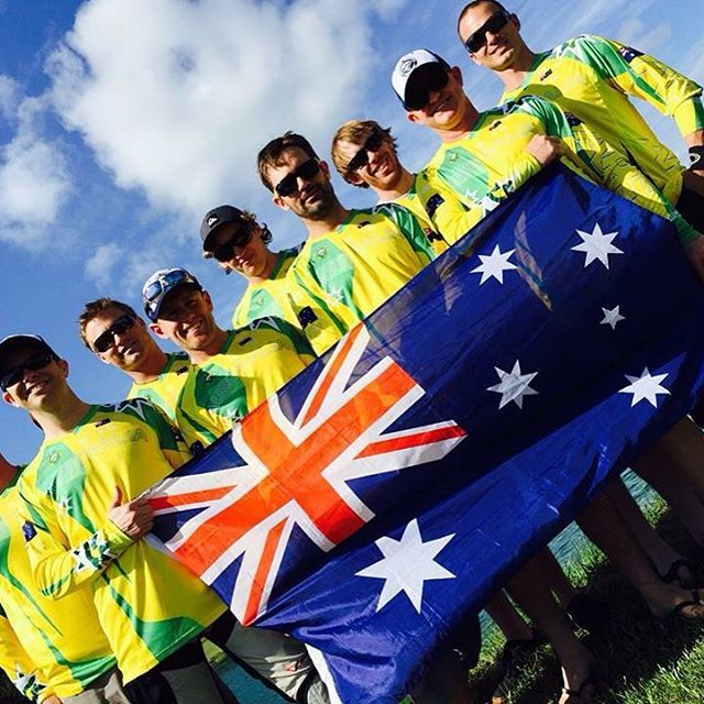 The #2015 #Australian Canopy #Team are off to the 8th #FAI #WorldCup in #Canada || Have #fun & #goodluck #SundaySwooping  by @apfskydive #getintoskydiving  #greenandgold #sky #style #aussieparachutingteam #manufactory #iloveskydiving #aussieflag #swoop