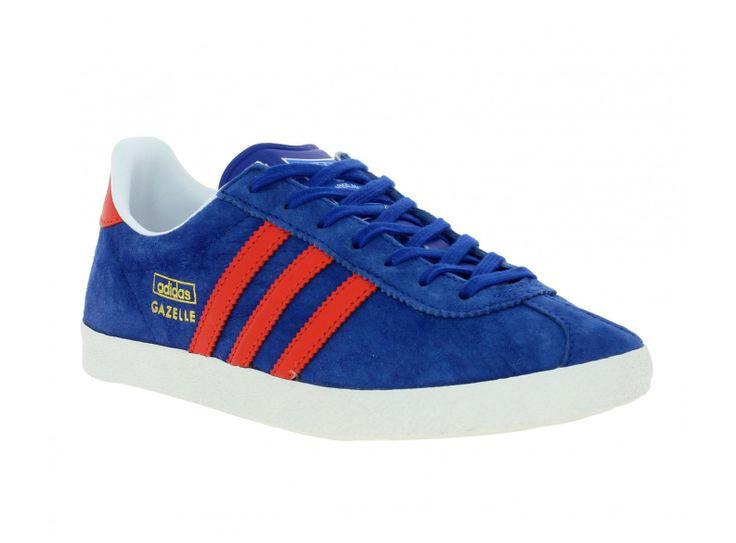 adidas gazelle bleu et rouge