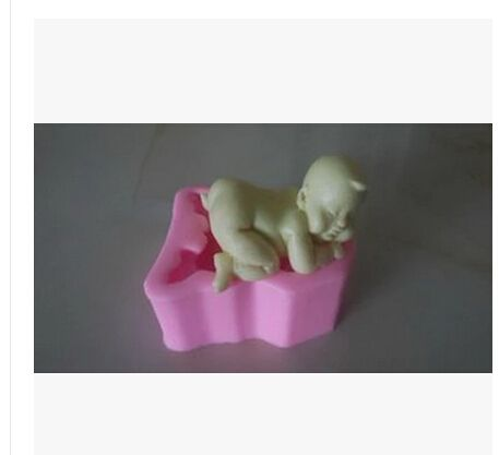 Free Shipping Cute Baby Modelling Fondant Silicon Mold Chocolate Cake Decoration Polymer Clay Resin Candy Fimo Super