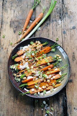 carottes rôties à plein de petites choses