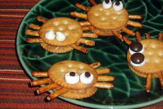 Spider snacks are fun and simple. They require almost no time at all to put together and you can subsitute many of the ingredients for thing...