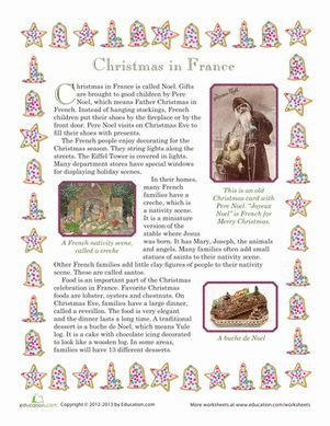 Pretend you're spending the holidays in France as you discover the Christmas customs and culinary delights of a country half a world away!