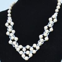 This pearl weave necklace is fashionable and beautiful! Wanna make one for yourself? Follow me to find out how to make it.