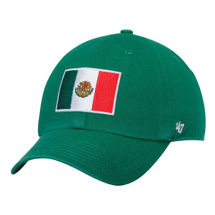 Mexico Soccer '47 Country Clean Up Adjustable Hat - Kelly Green