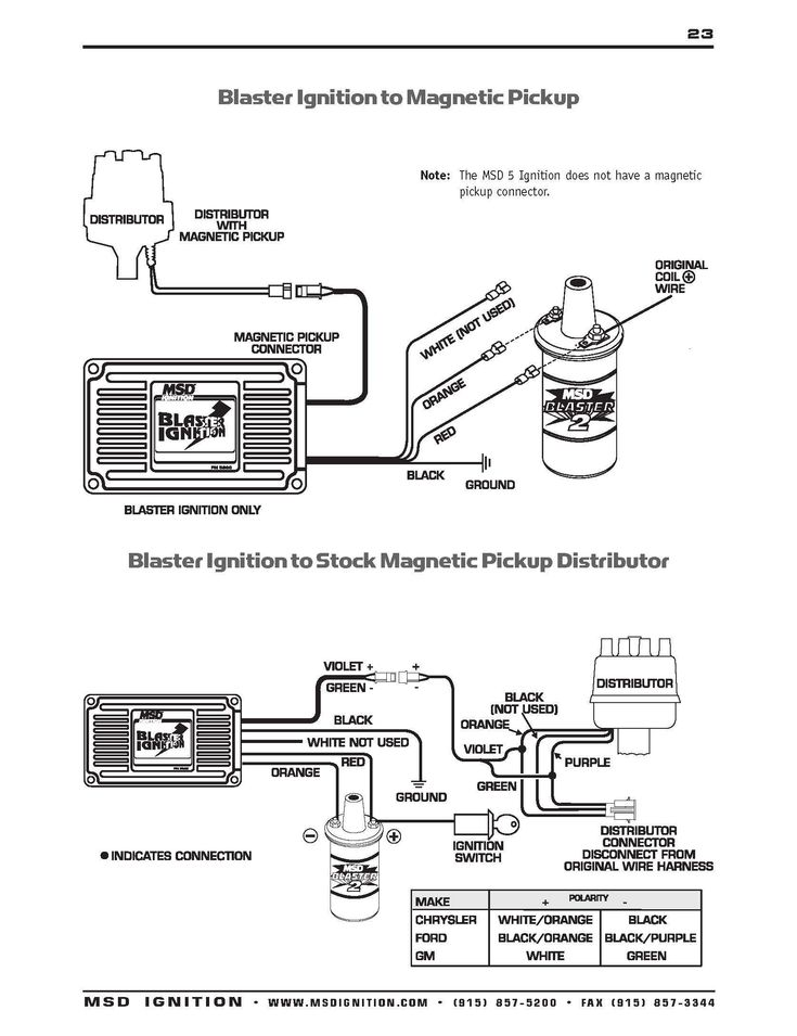 Msd Ignition Wiring Diagram Inspirational In 2020