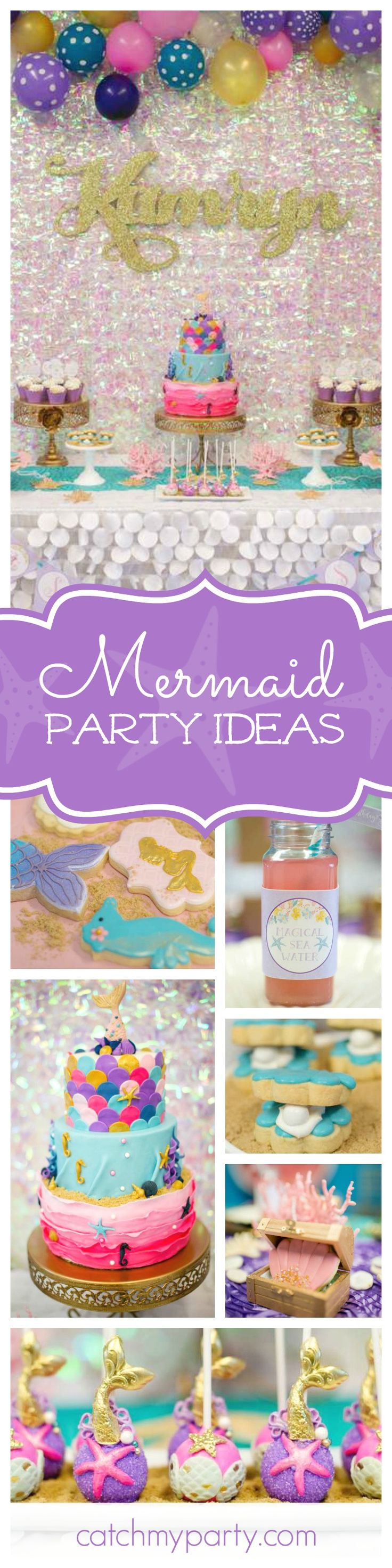 You'll love this magical mermaid birthday party! The cake pops are amazing!! See more party ideas and share yours at CatchMyParty.com