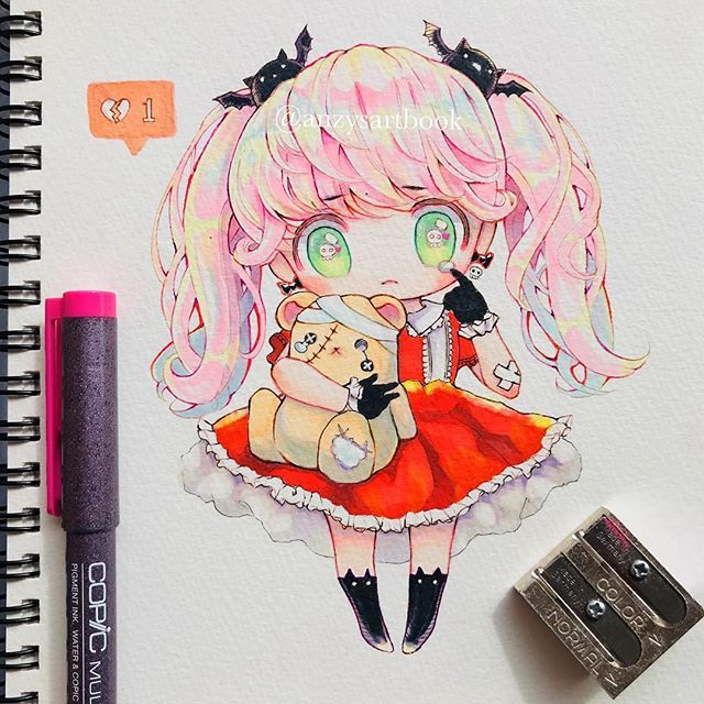 My oc Risa-chan (#halloween edition) with Frankenteddy #risa梨紗_oc My Favourite Things - Mary J. Blige #copicmarkers in response to poll results, I've brought back the chibi (゚∀゚) . . . #chibidrawing #mangaart #anime #mangadrawing #drawing #art #chibi #cutedrawing #cute #doodle #artistsoninstagram #traditionalart #コピック #kawaiidrawing #animechibi #落書き #illustratorsoninstagram #copicsketch #copic #dibujos #dessin #animeart #hairstyles #本地創作
