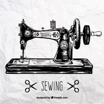 Máquina de costura Retro
