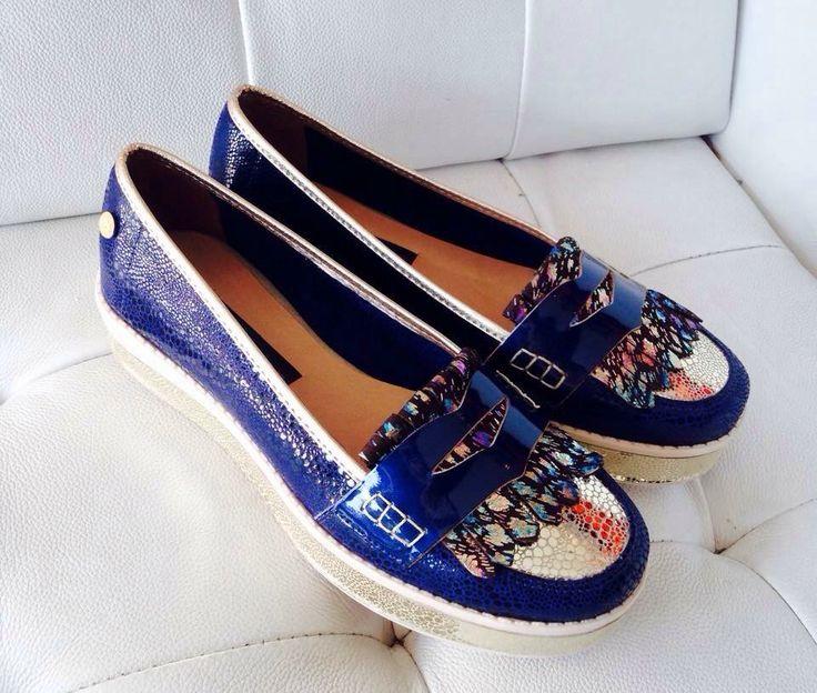 Mocasines azules @zapatosbloom