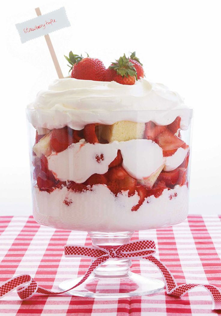 Strawberry trifle, Trifles and Trifle recipe on Pinterest