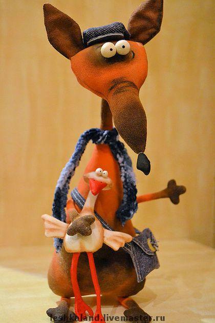 Лис из семьи Ларссонов - авторская игрушка,текстильная игрушка,интерьерная игрушка