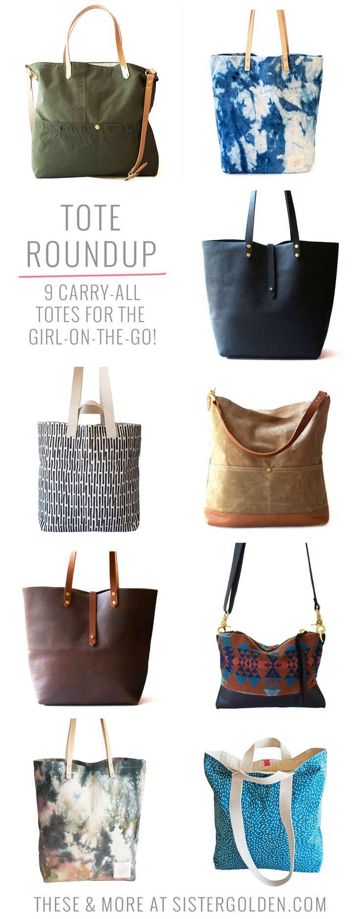 Tote Roundup! 9 carry-all totes for the girl-on-the-go!