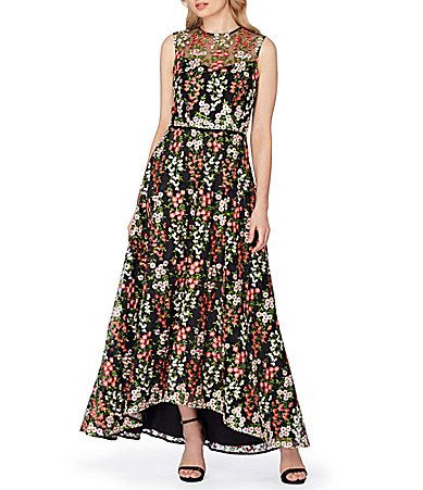 Tahari ASL Embroidered Floral Ball Gown #Dillards