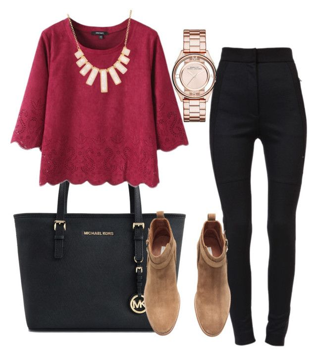 """""""young teacher outfit #3"""" by womack470 on Polyvore featuring Michael Kors, Marc by Marc Jacobs, Dolce&Gabbana, Rivka Friedman and H&M"""