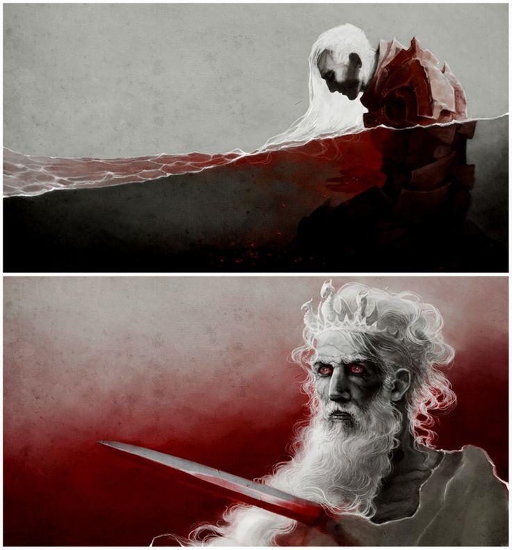 Rhaegar Targaryen and Aerys II Targaryen (A Song of Ice and Fire) by coupleofkooks