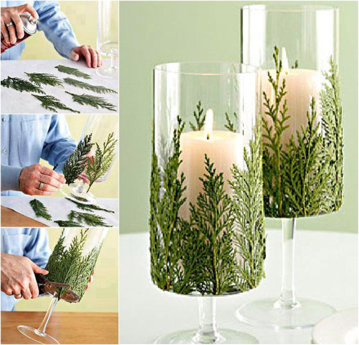 The Perfect DIY Christmas Candles With Pine leaf & Cinnamon Stick