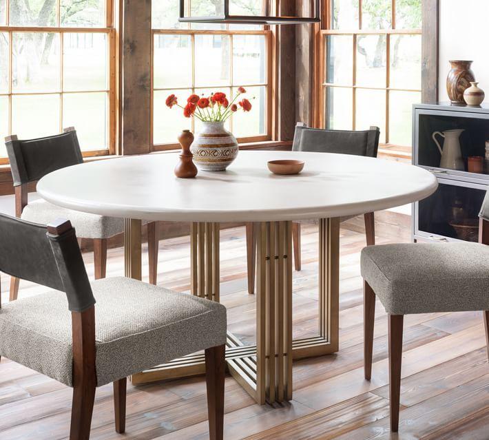 Kilmer Round Pedestal Dining Table, Round Pedestal Dining Room Table