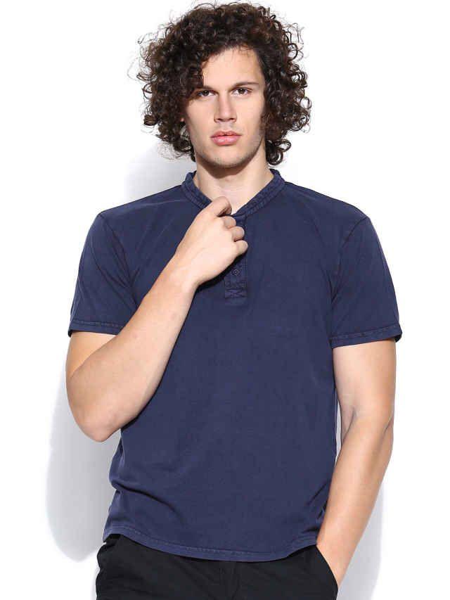 Dream of Glory Inc. Blue Henley T-shirt