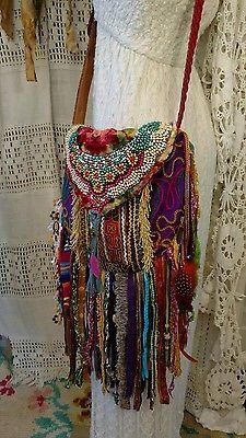 Handmade Fringe Ibiza Festival Cross Fringe Body Bag Gypsy Hippie Boho tmyers
