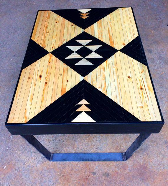 Metallfuß Tabelle, Palette Holztischen, moderne Couchtische, Upcycled Holz-Tische, kleinen Holztischen, hölzernen Kaffeetische