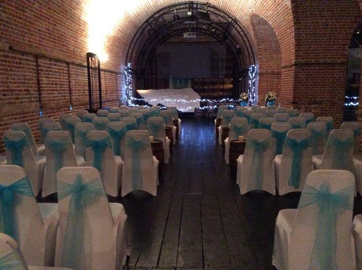 Light blue wedding ceremony @explosionmuseum