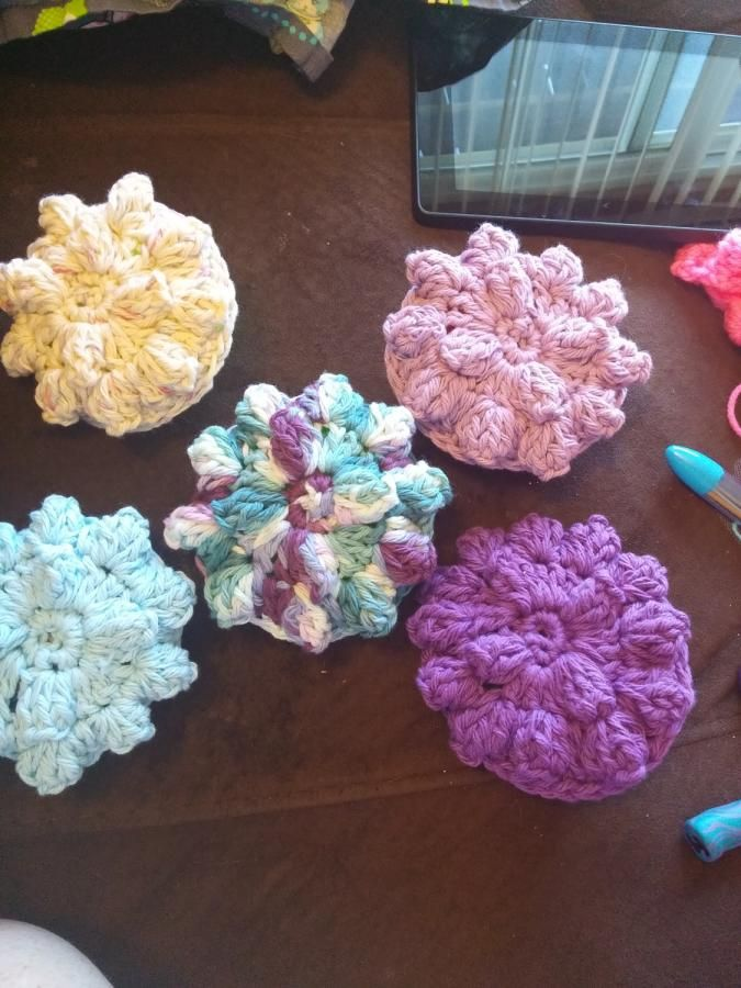 Amigurumi Popcorn Stitch : 17 Best images about crochet: coasters, dishcloths, mug ...