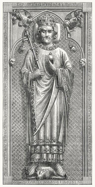 Tomb of Charles the Bald (early 13th century).  From Dictionnaire raisonné de l'architecture française du XIe au XVIe siècle (Reasoned dicti...