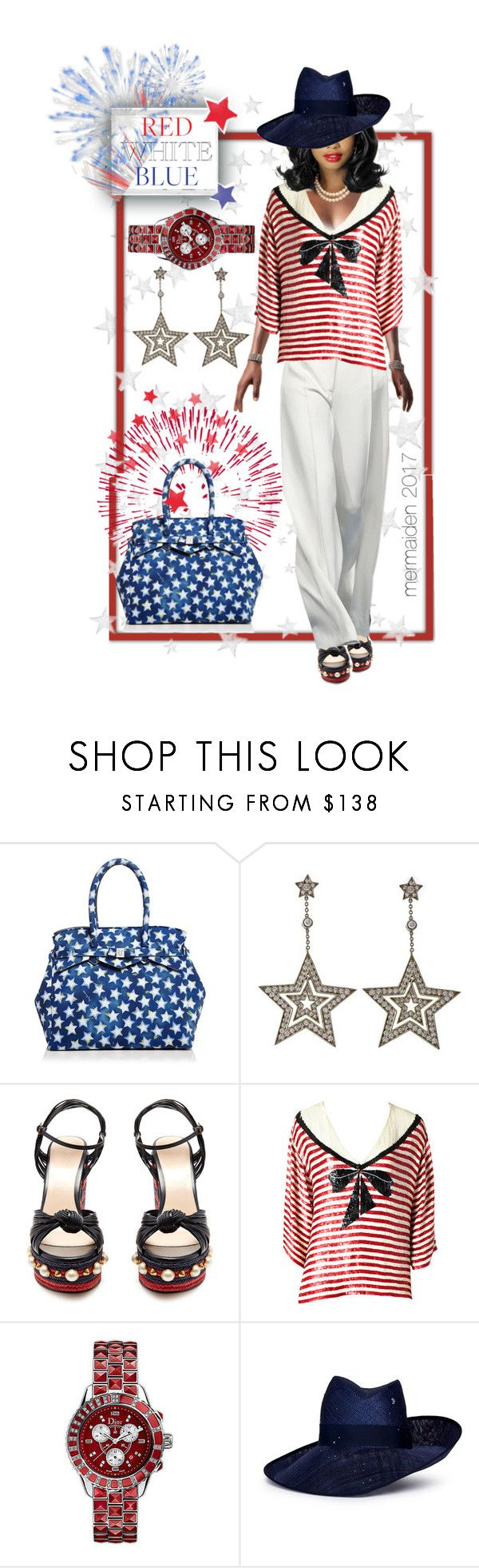 """""""Independence Day #2"""" by mermaiden ❤ liked on Polyvore featuring Polaroid, Save My Bag, Tiffany & Co., Gucci, Oscar de la Renta, Christian Dior, Piers Atkinson, clean, classy and fourthofjuly"""