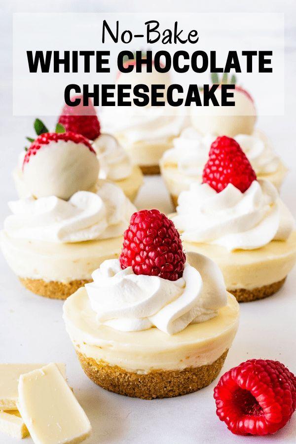 No Bake White Chocolate Cheesecake Recipe In 2020 Chocolate Cheesecake White Chocolate Cheesecake White Chocolate Desserts