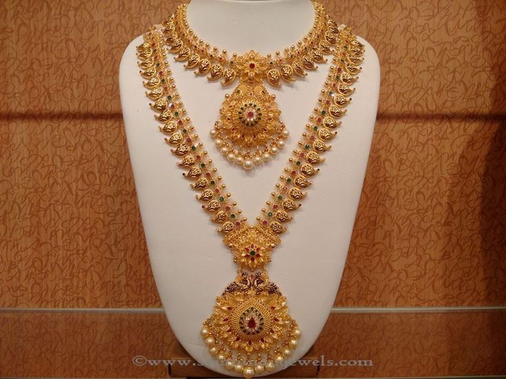 Latest Indian Bridal Necklace Sets, Indian Bridal Necklace Designs, Gold Bridal Jewellery Designs.