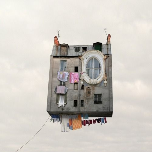 Flying Houses, by Laurent Chehere.