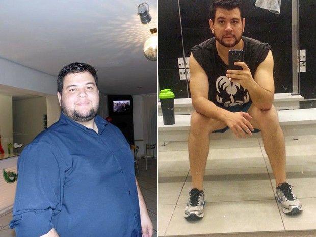 Guilherme perdeu 54 kg após mudar radicalmente o estilo de vida; fotos mostram o jovem antes e depois (Foto: Arquivo pessoal/Guilherme Mascarenhas)
