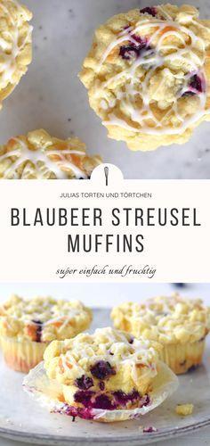 Saftige Blaubeer Streusel Muffins – Kuchen fürs Büro