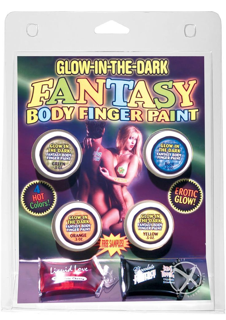 Fantasy Body Finger Paint Assorted Colors Glow In The Dark