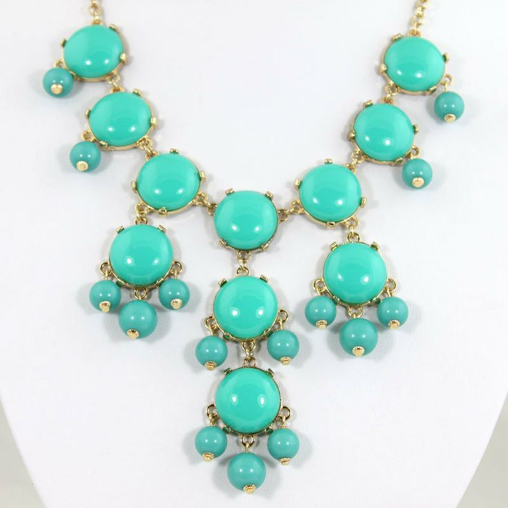 Turquoise Bubble Bib NecklaceSmall Bubble Necklace by OnlyPearl, $7.99