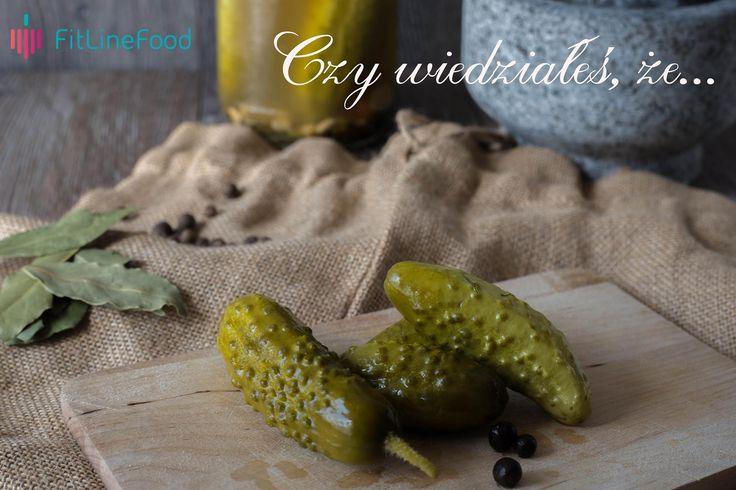 Czy wiedziałeś, że ogórki korniszone zawierają kwas foliowy? www.fitlinefood.com